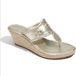 Jack Rogers Marbella mid wedge heels